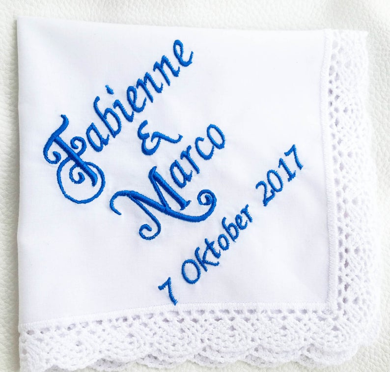 Custom embroidery handkerchiefs Mom Wedding Gift Mother of the Groom Gift Embroidered Made To Order Gift Personalized Wedding Handkerchief